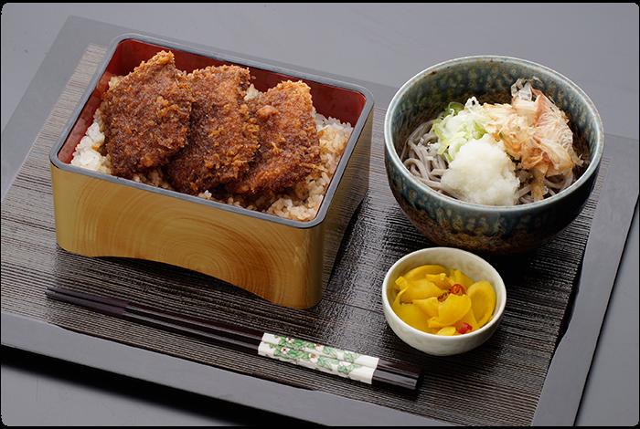 ソースかつ丼&そばセット